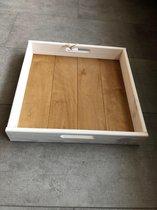 Dienblad hout vierkant 38x38x5