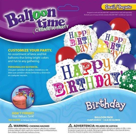 Ballonnen verjaardag Happy Birthday partypack