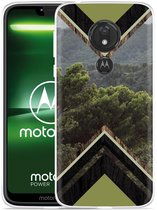 Moto G7 Power Hoesje Forest wood