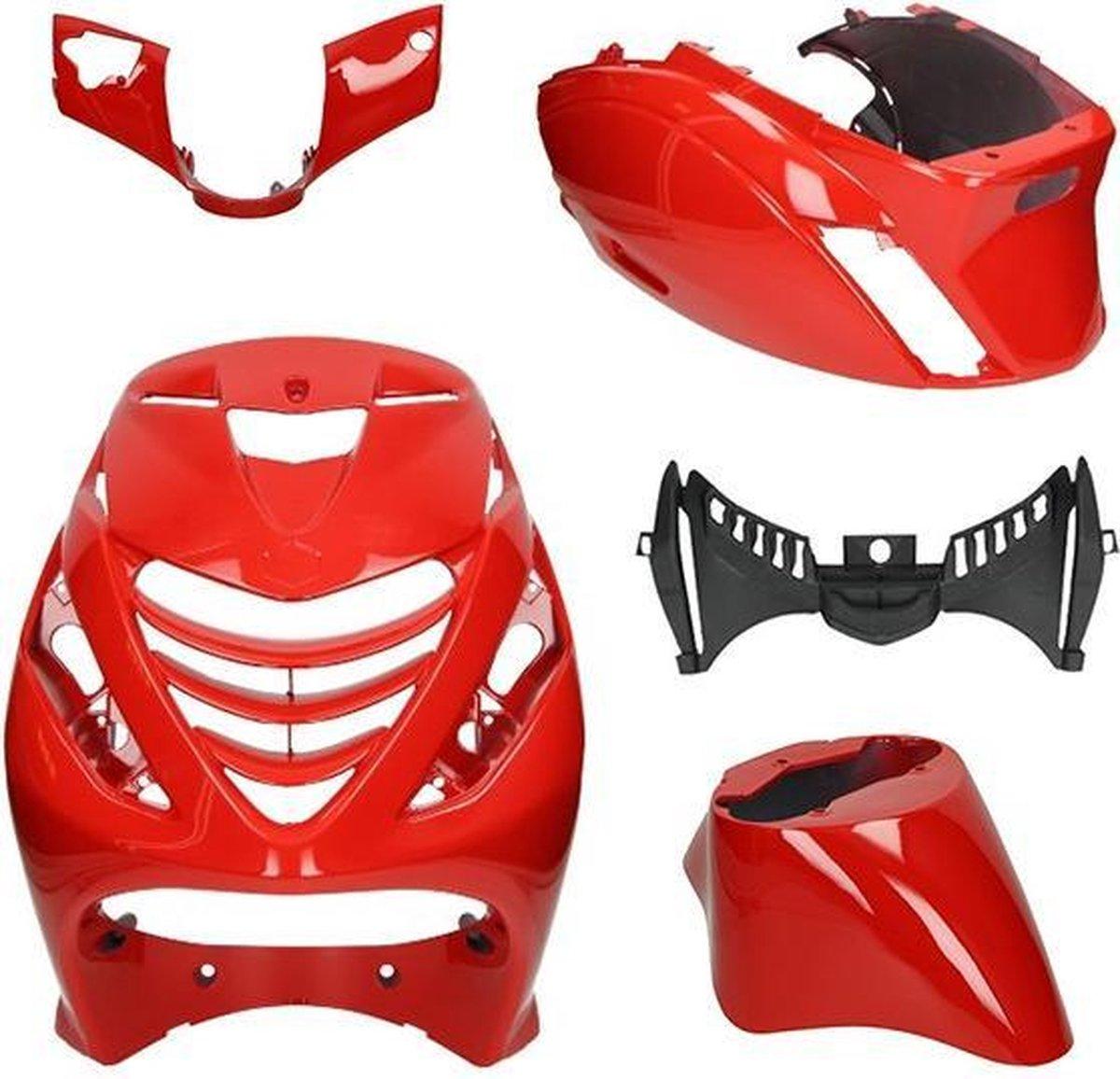 Kappenset Piaggio Zip Sp Ferrari glans rood DMP 5-delig