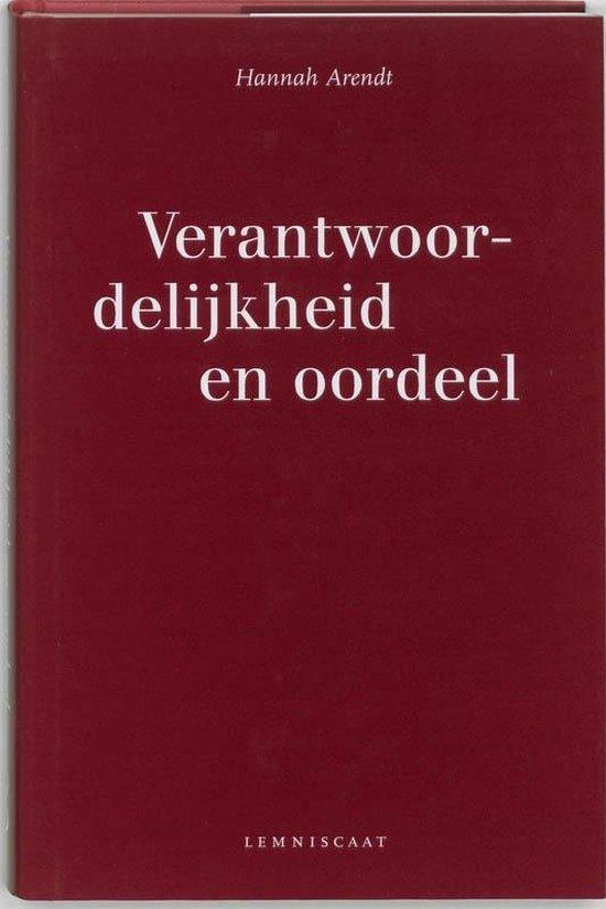 Boek cover Verantwoordelijkheid en oordeel van Hannah Arendt (Hardcover)