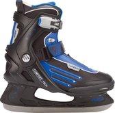 Nijdam 3353 Ijshockeyschaats - Semi-Softboot - Zwart/Blauw - Maat 41