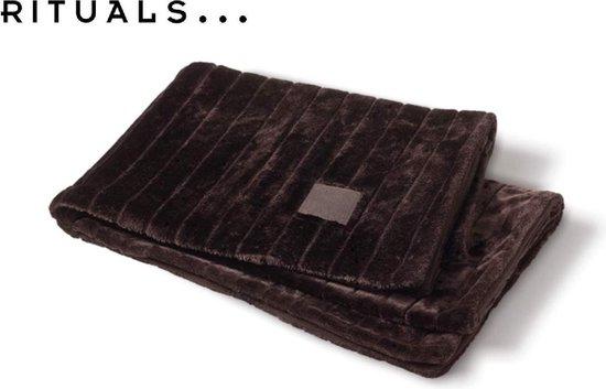 RITUALS Home Blanket - Fleece plaid deken - 130 x 170 cm - Bruin