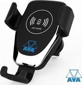 AVA Draadloze Telefoon houder Auto / Draadloos Opladen QI / Oplader / Ventilatierooster / Wireless Fast Charger / Universeel / Auto Houder / Snellader / Telefoonhouder / Telefoonlader / Ventilatie / 10W / 7.5W / 5W / Gratis Verzending