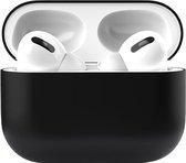 Apple Airpods Pro Siliconen - Case - Hoesje - Geschikt voor Apple Airpods Pro - Zwart
