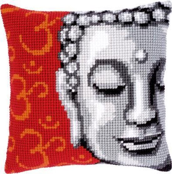 Vervaco Boeddha Kruissteekkussen pakket