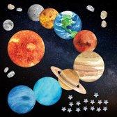Muurstickers Planeten & Sterren - Zonnestelsel - Ruimte - Raamsticker - Deursticker - Kinderkamer - Babykamer - 32 stuks