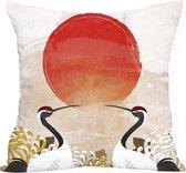 Moodadventures | Kussens | Kussenhoes | Sunset Birds | 45 x 45 cm