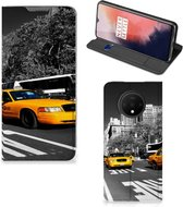 OnePlus 7T Book Cover New York Taxi