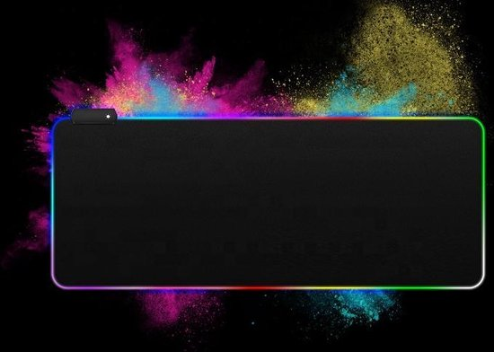 Gaming Muismat XXL - RGB LED Verlichting - Anti-Slip