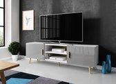 Meubella - TV-Meubel Vyenna - Grijs - Wit - 180 cm
