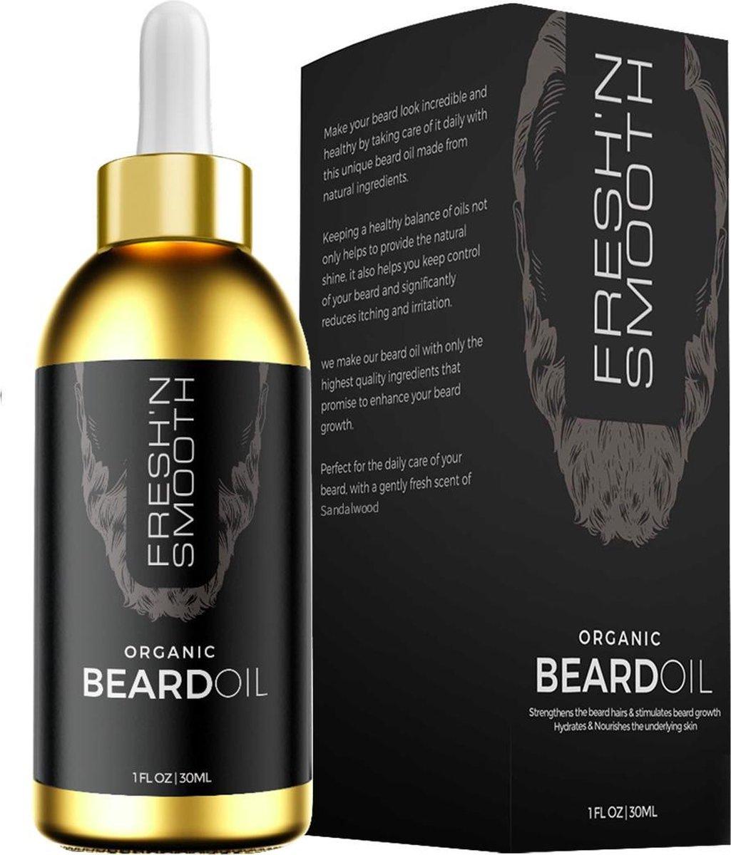Fresh 'N Smooth Baardolie Beard Oil Baardverzorging Baardgroei Olie voor Lange & korte Baard