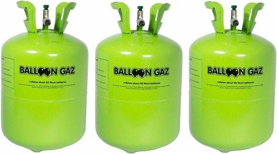 Helium gas tankjes voor 150 ballonnen - 3x Balloon Gaz heliumtank - Ballonnen vullen