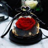 Onsterfelijke Roos in Glas – Rood - Moederdag – Valentijn Cadeau – Huwelijk – Roos in Glas – Decoratief
