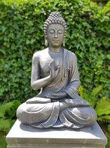 Boeddha beeld - Tuinbeeld Boeddha beeld Groot Antiek Zilver 73cm