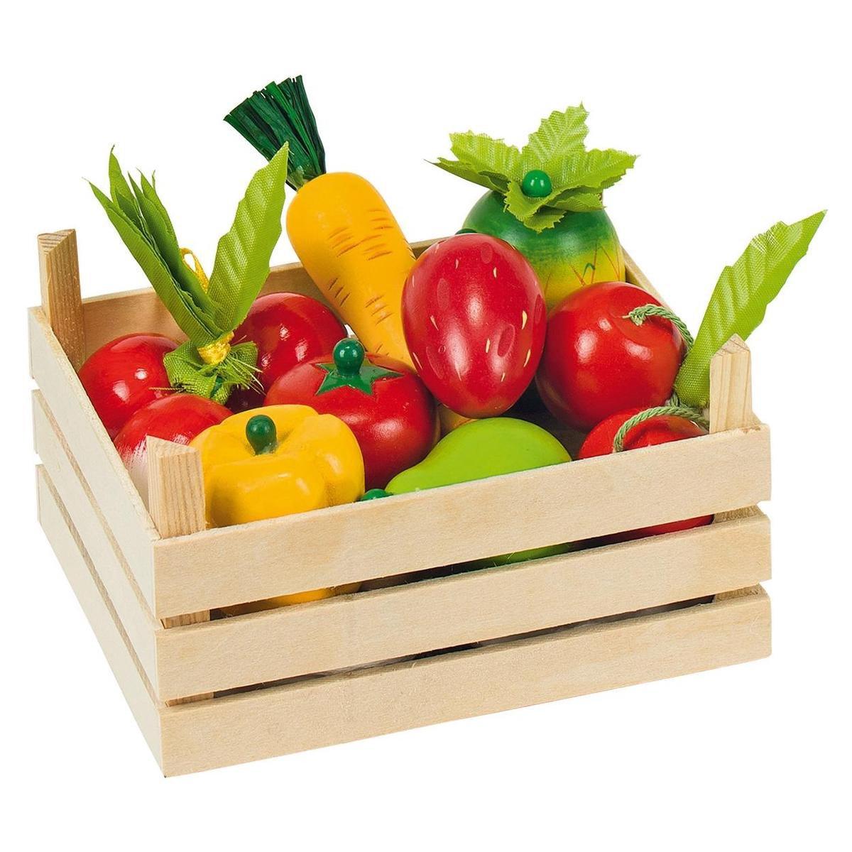 Goki Kistje met groente en fruit - 10-delig - Goki