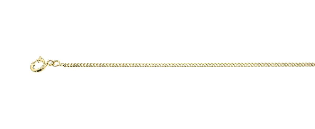 Modena Goudkleurige Gourmet lengtecollier, 60 cm - Delphidouble