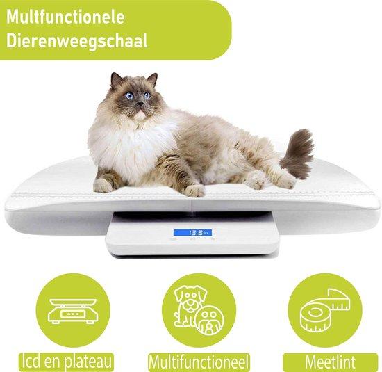 WeighJo - Digitale weegschaal - Dierenweegschaal -Baby Weegschaal - Tot 100 kg