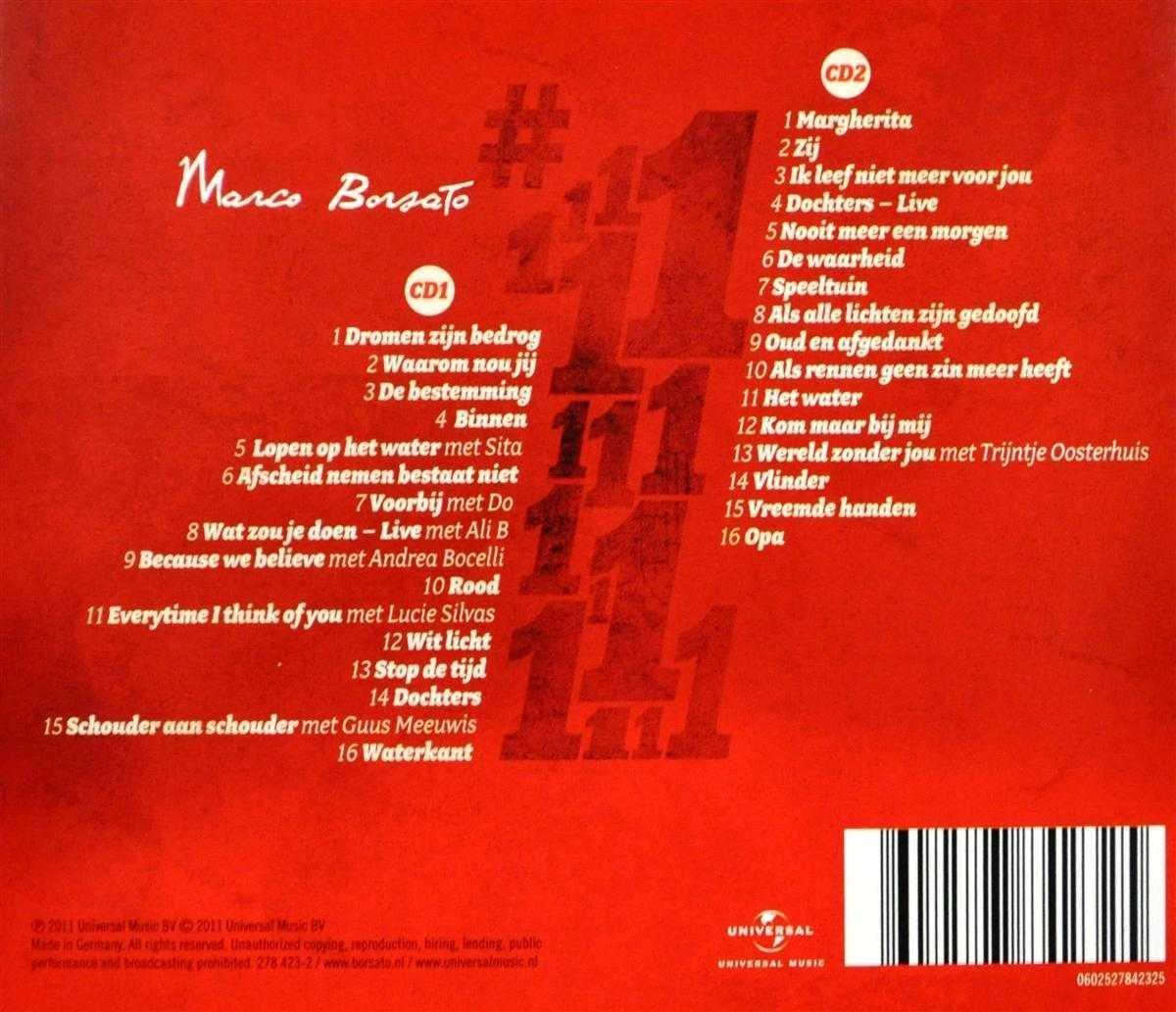 Bol Com No 1 Marco Borsato Cd Album Muziek