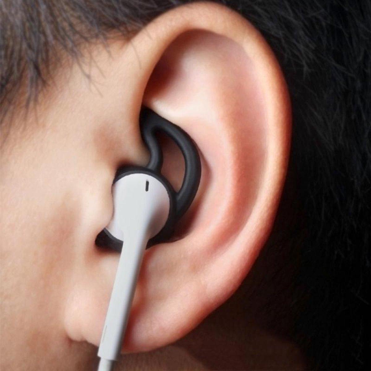 Xccess Silicone Earbuds with Ear Hook Apple Earpod/Airpod Black