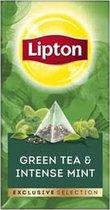Lipton - Exclusive selection Groene thee & Intense munt - 25 Pyramide zakjes
