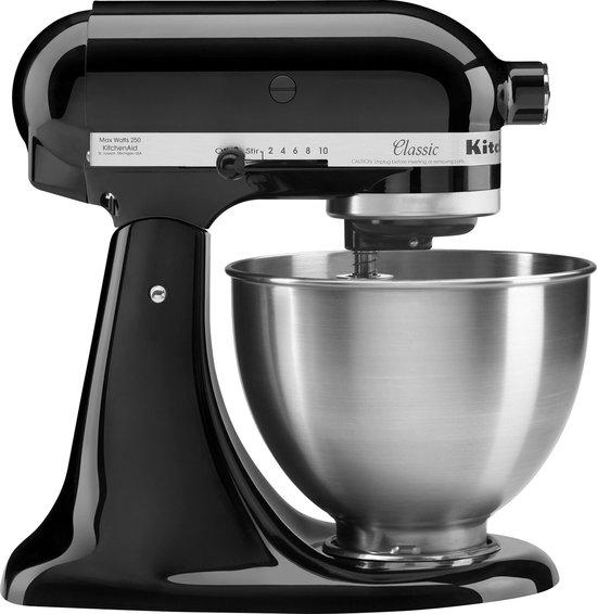 KitchenAid Classic 5K45SSEOB - Keukenmachine - Zwart