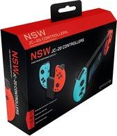 Gioteck Draadloze Joy-Con Controller voor Nintendo Switch | Switch Lite™| PC set Rood/Blauw