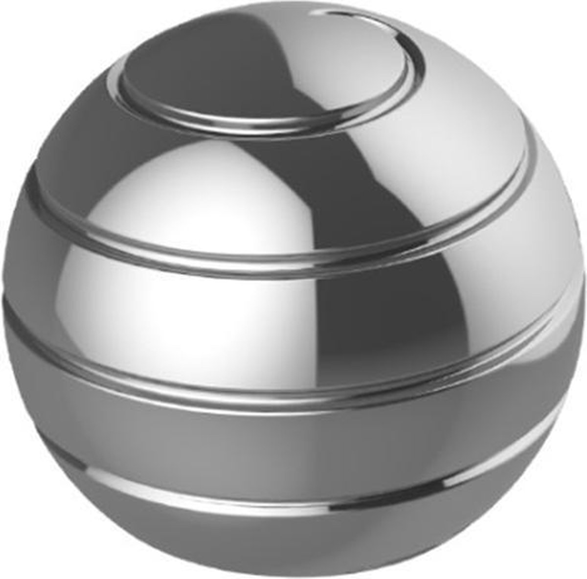 Fidget spinner - Gyroscoop - Tol - Stressbal - Mesmobal - Volwassenen - Kinderen - Bureau accessoire - Metaal - Zilver