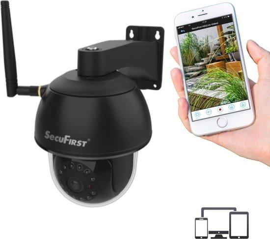 SecuFirst CAM214B Draadloze IP camera zwart - buiten - draai- en kantelbaar - FULL HD 1080P