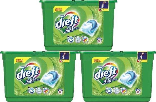 DREFT 3in1 Pods wasmiddel Regular - 3 x 42 (126) wasbeurten