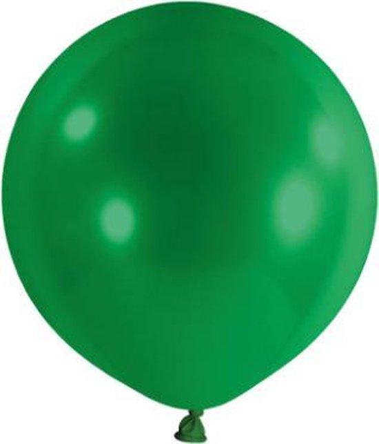 Mega ballon XXL 180cm groen, inclusief sluitclip