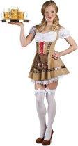 Boland Dirndl Dames Alpine maid Bruin - L - Carnavalskleding