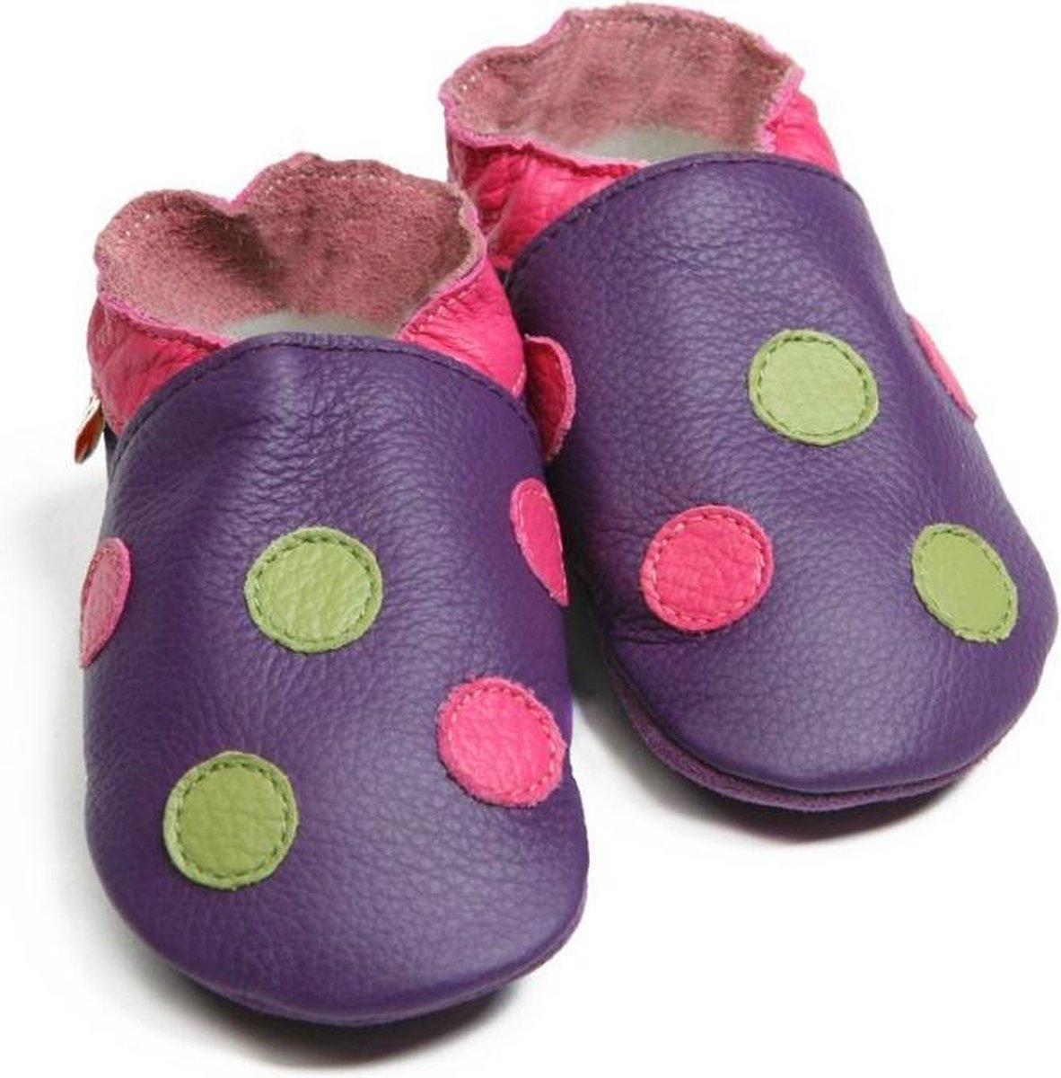 Liliputi babyslofjes Polka Dots Purple