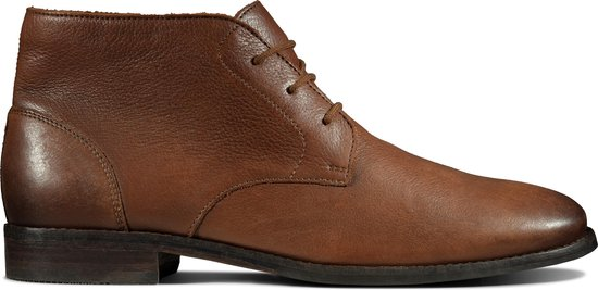 Clarks Flow Top Heren Veterschoenen - Tan Leather - Maat 43