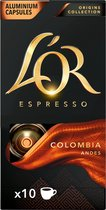 L'OR ESPRESSO Colombia koffiecups - Origins collectie - 10 x 10 cups