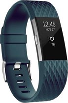 By Qubix - Fitbit Charge 2 bandje - siliconen sport - Small - Grijsblauw