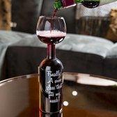 Wine Bottle Glass - Groot wijnglas - Wijnfles glas - 750 ml.