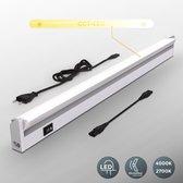 B.K.Licht - LED Onderbouw verlichting - kastverlichting - keuken lamp - kleurtemperatuur instelbaar - titaan