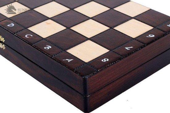 Thumbnail van een extra afbeelding van het spel Sunrise New Line- schaakspel schaakbord schaakset 31X31cm.