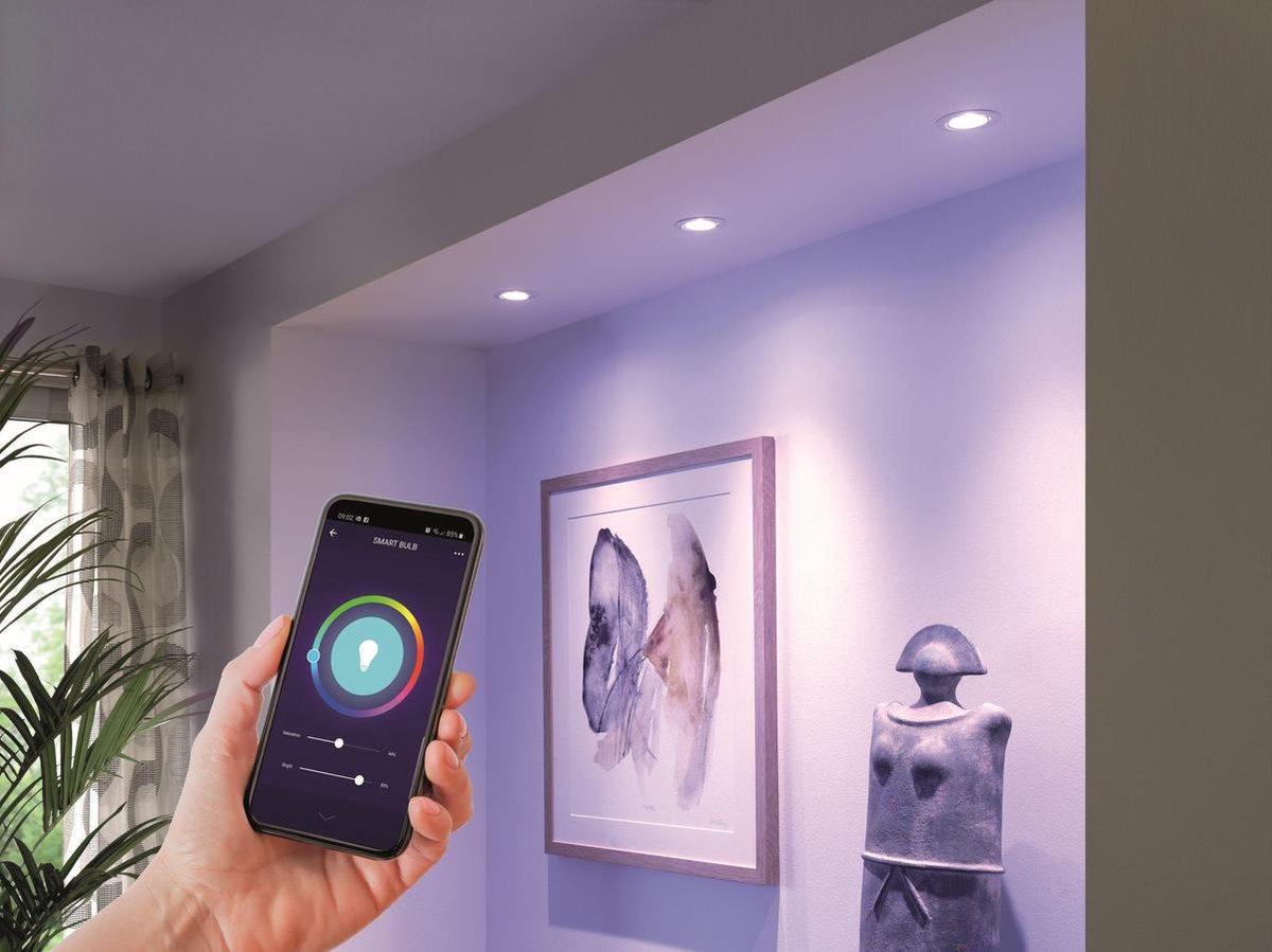 QNECT slimme Wi-Fi LED lamp - GU10 - 4,5W 380 lumen - RGB + 2700K - 25.000 branduren - Wi-Fi 2,4Ghz
