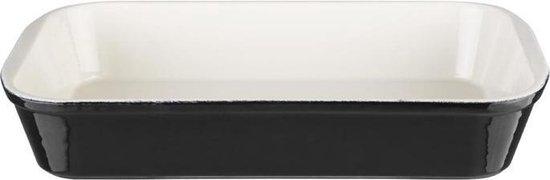 Vogue rechthoekige schaal zwart 35,5 x 22cm
