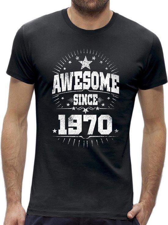 Awesome sterren Abraham 50 jaar t-shirt / kado tip / Heren maat XXXL / origineel verjaardag cadeau man