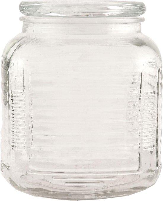 Clayre & Eef - Voorraadpot Glas met luchtdicht deksel - Ø 14 X 17 CM