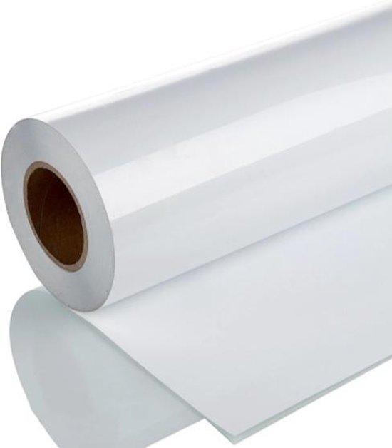 Afbeelding van Iron on Heat transfer T-shirt vinyl - Warmte overdraagbaar T-shirt vinyl / Heat transfer T-shirt vinyl - 100 x 30 cm - Wit