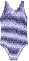 Slipstop Badpak Flamingo Blauw/wit Meisjes Maat 122
