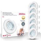 B.K.Licht Hila LED inbouwspot - kantelbaar - GU10 - IP23 - Ø86 mm - set van 6 - wit