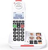 Swissvoice XTRA2155BNL wit - Grote Toetsen Senioren DECT telefoon vaste lijn met foto toetsen en antwoordapparaat