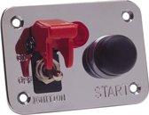 AutoStyle Universal Schalter-Paneel - 1x NOS Schalter/1x Engine Start/1x Rote LED