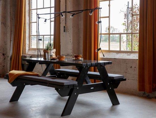 MaximaVida metalen decoratieframe Babs tot 250 cm lengte zwart - luxe uitvoering