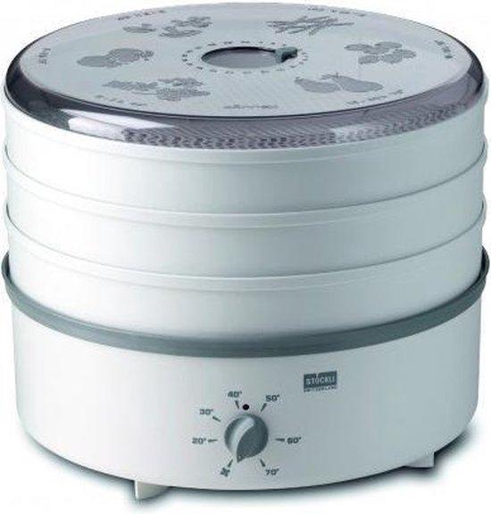Stöckli Ovens Dehydrator Voedseldroger met 3 Kunststof Roosters